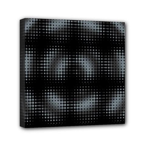 Circular Abstract Blend Wallpaper Design Mini Canvas 6  X 6  by Simbadda