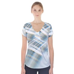 Business Background Abstract Short Sleeve Front Detail Top by Simbadda