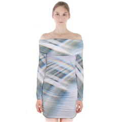 Business Background Abstract Long Sleeve Off Shoulder Dress by Simbadda