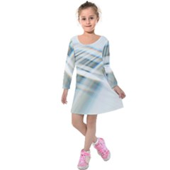 Business Background Abstract Kids  Long Sleeve Velvet Dress by Simbadda