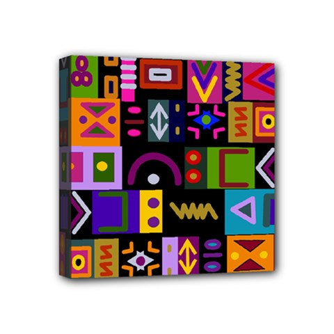 Abstract A Colorful Modern Illustration Mini Canvas 4  X 4  by Simbadda