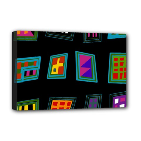 Abstract A Colorful Modern Illustration Deluxe Canvas 18  X 12   by Simbadda