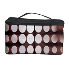 Technical Background With Circles And A Burst Of Color Cosmetic Storage Case by Simbadda