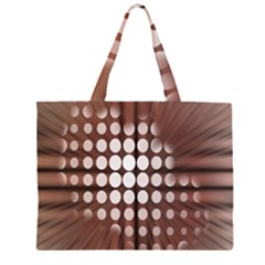 Technical Background With Circles And A Burst Of Color Large Tote Bag by Simbadda