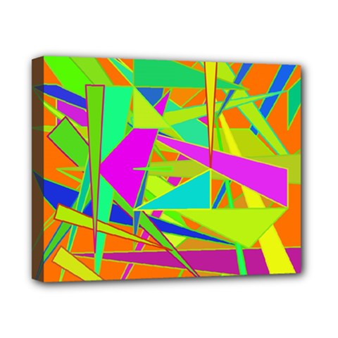 Background With Colorful Triangles Canvas 10  X 8  by Simbadda