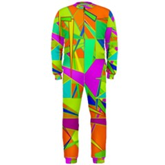 Background With Colorful Triangles Onepiece Jumpsuit (men)