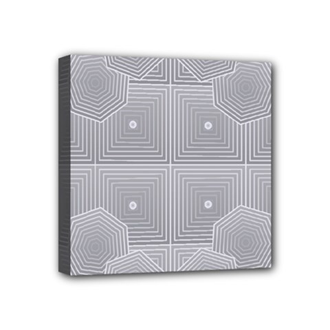 Grid Squares And Rectangles Mirror Images Colors Mini Canvas 4  X 4  by Simbadda