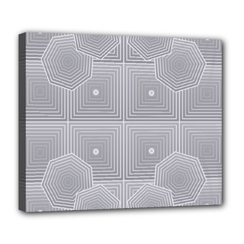 Grid Squares And Rectangles Mirror Images Colors Deluxe Canvas 24  X 20   by Simbadda