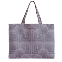 Grid Squares And Rectangles Mirror Images Colors Zipper Mini Tote Bag by Simbadda