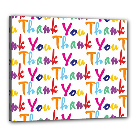 Wallpaper With The Words Thank You In Colorful Letters Canvas 24  X 20  by Simbadda