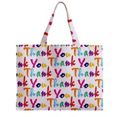 Wallpaper With The Words Thank You In Colorful Letters Zipper Mini Tote Bag by Simbadda