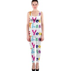 Wallpaper With The Words Thank You In Colorful Letters Onepiece Catsuit by Simbadda