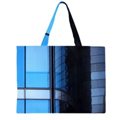 Modern Office Window Architecture Detail Zipper Large Tote Bag by Simbadda