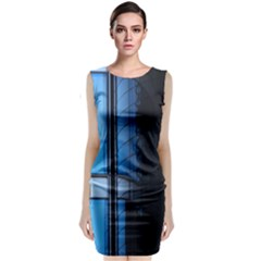 Modern Office Window Architecture Detail Classic Sleeveless Midi Dress by Simbadda