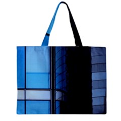 Modern Office Window Architecture Detail Medium Zipper Tote Bag by Simbadda
