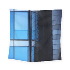 Modern Office Window Architecture Detail Square Tapestry (small) by Simbadda