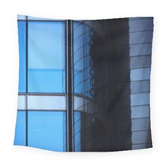 Modern Office Window Architecture Detail Square Tapestry (large) by Simbadda