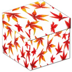 Colorful Autumn Leaves On White Background Storage Stool 12   by Simbadda
