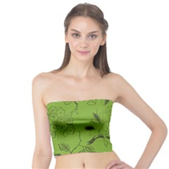 Abstract Green Background Natural Motive Tube Top