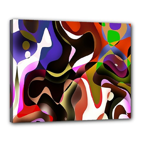 Colourful Abstract Background Design Canvas 20  X 16  by Simbadda