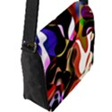Colourful Abstract Background Design Flap Messenger Bag (L)  View2