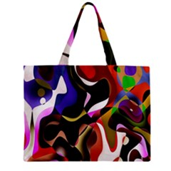Colourful Abstract Background Design Zipper Mini Tote Bag by Simbadda