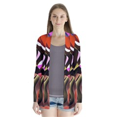 Colourful Abstract Background Design Cardigans by Simbadda