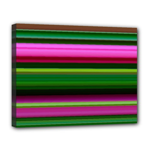 Multi Colored Stripes Background Wallpaper Canvas 14  X 11  by Simbadda