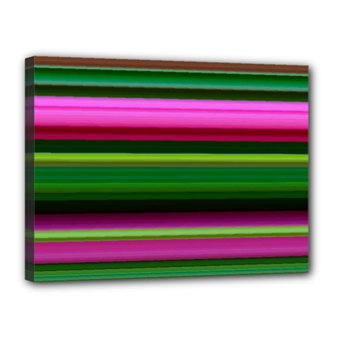 Multi Colored Stripes Background Wallpaper Canvas 16  X 12  by Simbadda
