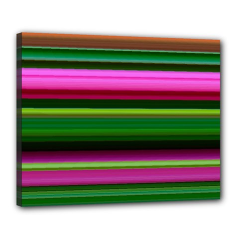 Multi Colored Stripes Background Wallpaper Canvas 20  X 16  by Simbadda