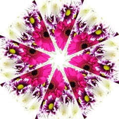 Pink Purple And White Flower Bouquet Folding Umbrellas by Simbadda