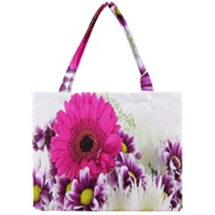 Pink Purple And White Flower Bouquet Mini Tote Bag by Simbadda