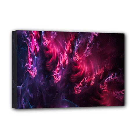 Abstract Fractal Background Wallpaper Deluxe Canvas 18  X 12   by Simbadda