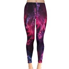 Abstract Fractal Background Wallpaper Leggings  by Simbadda