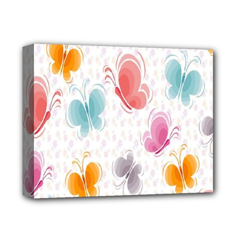 Butterfly Pattern Vector Art Wallpaper Deluxe Canvas 14  X 11  by Simbadda