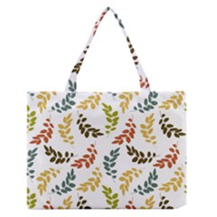 Colorful Leaves Seamless Wallpaper Pattern Background Medium Zipper Tote Bag by Simbadda