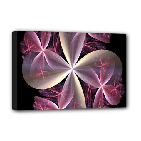 Pink And Cream Fractal Image Of Flower With Kisses Deluxe Canvas 18  X 12   by Simbadda
