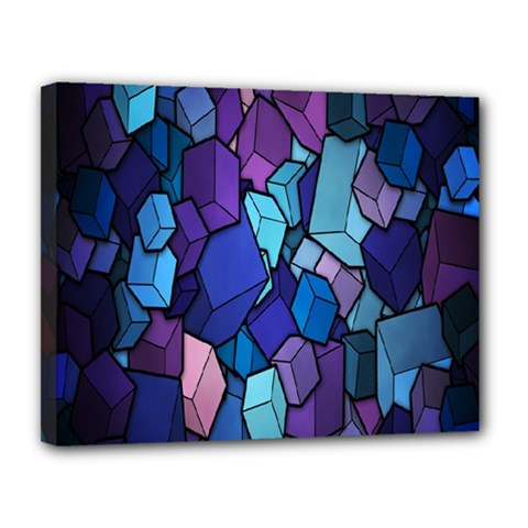 Cubes Vector Art Background Canvas 14  X 11  by Simbadda