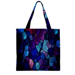 Cubes Vector Art Background Zipper Grocery Tote Bag