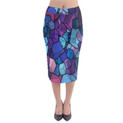 Cubes Vector Art Background Midi Pencil Skirt by Simbadda