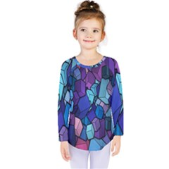 Cubes Vector Art Background Kids  Long Sleeve Tee by Simbadda