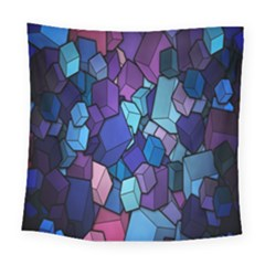 Cubes Vector Art Background Square Tapestry (large) by Simbadda