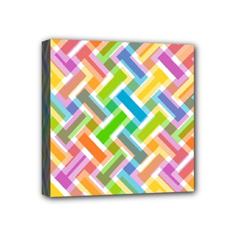 Abstract Pattern Colorful Wallpaper Background Mini Canvas 4  x 4
