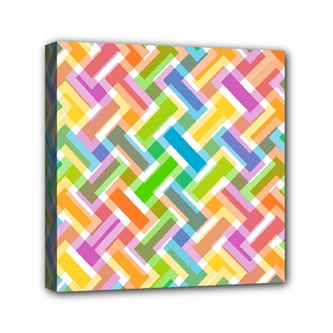 Abstract Pattern Colorful Wallpaper Background Mini Canvas 6  x 6