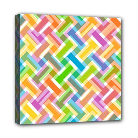 Abstract Pattern Colorful Wallpaper Background Mini Canvas 8  x 8