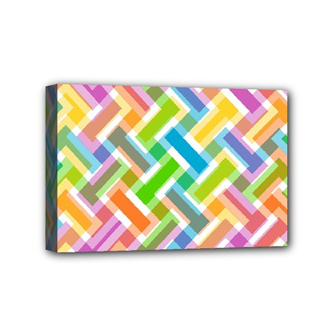 Abstract Pattern Colorful Wallpaper Background Mini Canvas 6  x 4