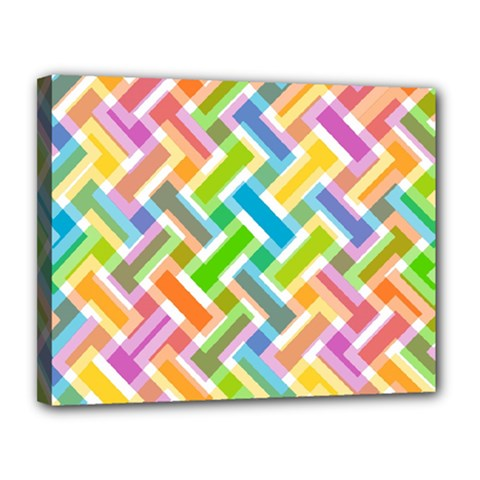 Abstract Pattern Colorful Wallpaper Background Canvas 14  x 11