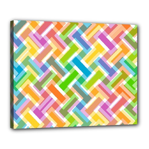 Abstract Pattern Colorful Wallpaper Background Canvas 20  x 16