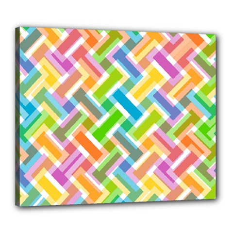 Abstract Pattern Colorful Wallpaper Background Canvas 24  x 20