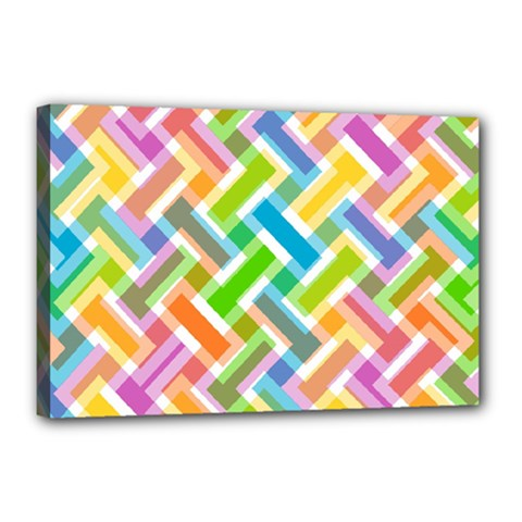 Abstract Pattern Colorful Wallpaper Background Canvas 18  x 12